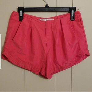 Zara Trafaluc Pink Embroidered Shorts